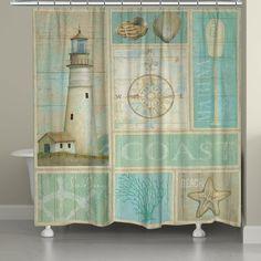 Coastal Mix Shower Curtain