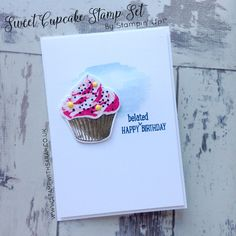 Click to see Sweet Cupcake card and more for Hello! Blog Hop Week 8 #stampinup #stampwithsarah