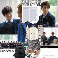 """""""School"""" by nyamnyam ❤ liked on Polyvore"""