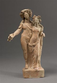 Dionysos and Ariadne Greek, PERIOD: 1st century BC Ancient Greece Hellenistic period (323-31 BC) Terracotta Height: 0.255 m > photo.rmn.fr