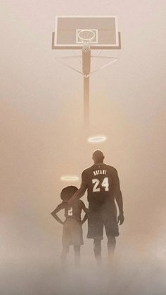 A moving tribute to the late Kobe Bryant, and his daughter from artist BossLogic is bringing fans to tears. Kobe Bryant Lakers, Kobe Bryant Tattoos, Kobe Bryant Daughters, Kobe Bryant Quotes, Kobe Bryant Pictures, Kobe Bryant Family, Nba Wallpapers, Cool Basketball Wallpapers, Nba Basketball