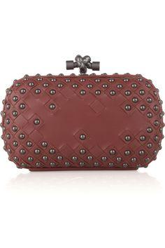 Bottega Veneta studded intrecciato leather box clutch ♥