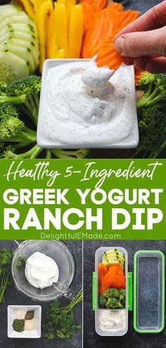Greek Yogurt Ranch Dip, Best Greek Yogurt, Greek Yogurt Recipes, Vegetable Dip Recipe Greek Yogurt, Ranch Vegetable Dip Recipe, Greek Yogurt Substitutions, Greek Yogurt Salad Dressing, Healthy Ranch Dressing, Greek Yogurt Sauce