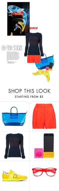 """neon sushi"" by sharmarie ❤ liked on Polyvore featuring Stephanie Johnson, McQ by Alexander McQueen, Jason Wu, Philippe Model, ZeroUV and neon"