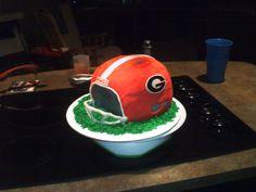 Georgia Football Helmet cake