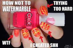 How NOT to watermarble by simplynailogical