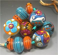 lampwork beads handmade glass beads