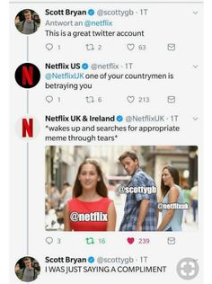 What even? XD<<Netflix has the best customer support+social media, lol
