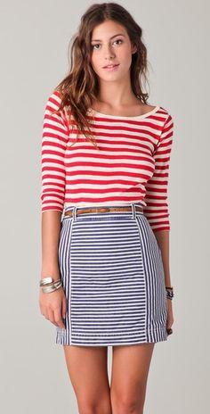 break the rules! stripes on stripes