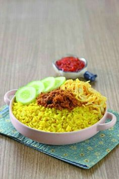 Nasi kuning.                                   Yellow rice