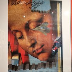 A #collage poster by #RomanCieslewicz @ #GinzaGraphicGallery in Tokyo #everydayart #1日1アート