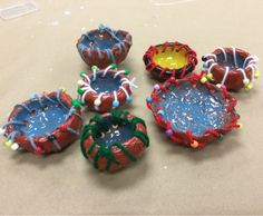 First grade pinch pots with stitching