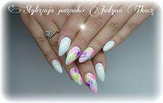 by Justyna Tkacz ! Follow us on Pinterest. Find more inspiration at www.indigo-nails.com #nailart #nails #indigo #white #sugar #pastel