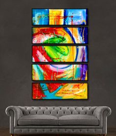 "'Be Still III' - 60"" X 30"" Original Paintings. Free shipping within USA & 30 day return policy. - Lulus Gallery - 2"