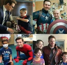 I love seeing the marvel cast do good things