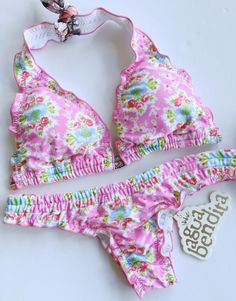 Agua Bendita Swimwear New With Tags Bikini Set Size M Bathing Suit Colombia #AguaBendita #Bikini