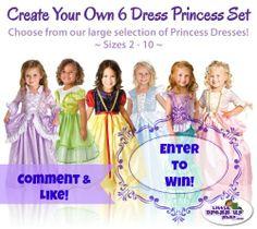 {Giveaway} 6 Dress Princess Set ($179.94 Value!) http://www.cuckooforcoupondeals.com/giveaway-4/giveaway-6-dress-princess-set-179-94-value/