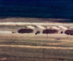 Trevor Paglen often folds art-historical references into his images, and he is particularly interested in painters concerned with the breakdown of representation, like J. M. W. Turner and Gerhard Richter. This photograph, of a site within the vast Nevada Test and Training Range, evokes Richter's technique of smearing paintings with squeegees.