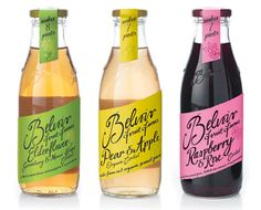 Belvoir - cool handwriting typography on labels