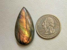 37x19 mm Amazing Rare Labradorite Cabochon Gemstone Teardrop