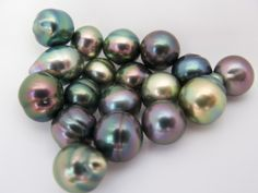 Tahitian Black Pearls gems-and-minerals Stone Jewelry, Pearl Jewelry, Antique Jewelry, Jewelery, Conch Jewelry, Pearl Ring, Minerals And Gemstones, Crystals Minerals, Rocks And Minerals