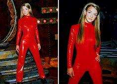 Britney shooting the Oops!…I Did It Again music video – 2000