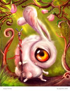 Angry bunny by gagatka … MY SECOND FAVORITE:)