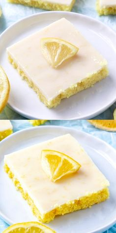 If you are a fan of easy dessert recipes these Cake Mix Lemon Squares are where its at. Lemon cake mix is baked and glazed with a sweet lemon glaze, perfect bar recipe for spring! Cake Mix Desserts, Cake Mix Recipes, Lemon Desserts, Lemon Recipes, Easy Desserts, Dessert Recipes, Recipes For Lemons, Easy Dessert Bars, Lemon Cake Bars