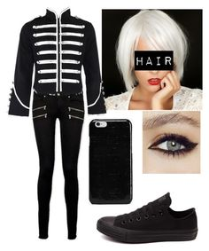 """""""Untitled #158"""" by smelb0rp on Polyvore featuring Paige Denim, Converse, Maison Margiela, rockerchic and rockerstyle"""