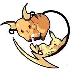 Raichu and Pikachu by SeviYummy on DeviantArt Pokemon Faces, New Pokemon, Cool Pokemon, Pokemon Stuff, Pikachu Raichu, Pokemon Pokedex, Kawaii Chibi, Kawaii Cute, Sweet Drawings