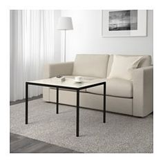 NYBODA Table basse avec plateau réversible, noir/beige - 75x60x50 cm - IKEA