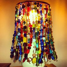 My version of a beaded lampshade