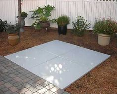 The EZ-Pad, installation pad for hot tub, other things, removable