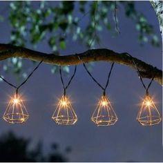 Geo Solar String Lights 10 LED Outdoor Garden Lighting for sale online Glow Water, Outdoor Garden Lighting, Sparkling Lights, Solar String Lights, Contemporary Garden, Tree Lighting, Light Shades, Light Decorations, Fairy Lights