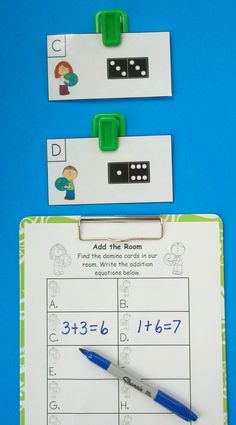 Get Your Little Learners Up and Engaged in Practicing Addition Facts to 10!  $   #earthday  #addition #KampKindergarten #addtheroom    https://www.teacherspayteachers.com/Product/Earth-Day-Domino-Add-the-Room-Sums-of-0-to-10-1198286