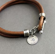 Mens Bracelet Black Leather Handmade Silver by LynnToddDesigns See related items on Fanatic Leather Store.
