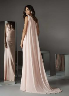 Magbridal Amazing Chiffon One Shoulder Neckline Sheath/Column Evening/Prom Dresses Simple Dresses, Elegant Dresses, Formal Dresses, Short Dresses, Pink Prom Dresses, Bridesmaid Dresses, Wedding Dresses, Pink Gowns, Party Dresses