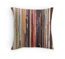 Vinyl Records Indie Rock  Throw Pillow