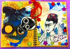 Winner - Adult category. The Diary of Frida Kahlo by Linda Gardiner A beautifully executed, exuberant design, full of jewel colours, sparkles and Day of the Dead folk art. A lovely composition that leapt from the cover of the book.