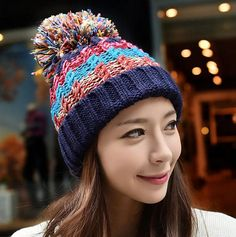 2015 Sale Fur Hats For Women Ms. Autumn Thick Wool Knit Hat Headgear Hedging Wool Cap From Just_trust, $4.43   Dhgate.Com