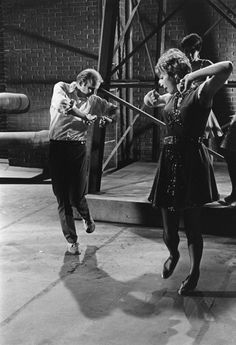 """Choreographer Bob Fosse directs Shirley MacLaine on the set of """"Sweet Charity"""" Boys On Film, Emotional Pictures, Bob Fosse, Dance Movies, Sweet Charity, Dance Legend, Shirley Maclaine, Dance Like No One Is Watching, Hooray For Hollywood"""