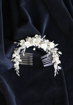 LE POEME headpiece in ivory and silver 3