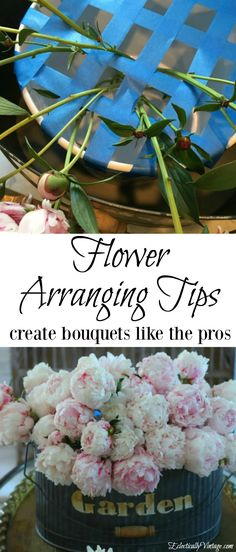 Flower Arranging Tips - simple ideas to have you creative bouquets like the pros! eclecticallyvintage.com
