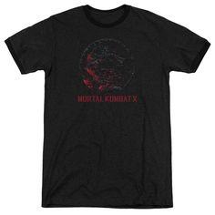 Mortal Kombat X - Bloody Seal Adult Ringer T- Shirt