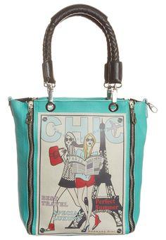 Barbara Rihl Best Friend Paris Tote Bag Turquoise Ping