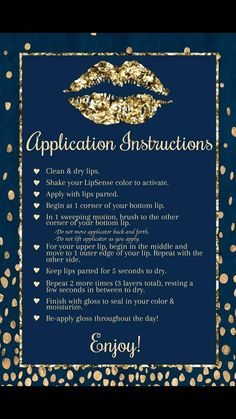 Lipsense application instructions. Distributor ID #272250 Facebook group - Lips that last and more with Rachal