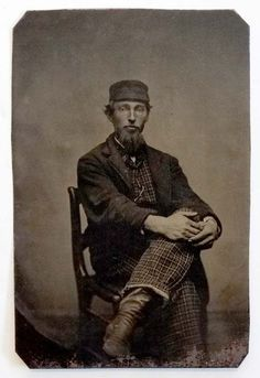ANTIQUE Vintage FANCY FASHION MAN in ODD HAT Tintype Photograph / GAY INTEREST