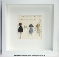 Friendship pebble art