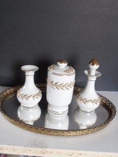 Lefton china Vanity Set Perfume vase by tjmccarty on Etsy