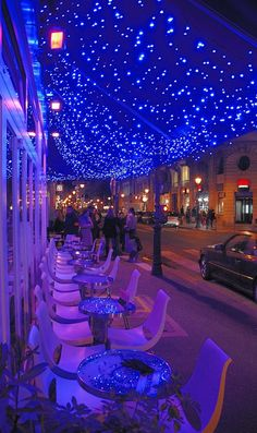 'Cafe Le Marais' by night ~ Paris, France